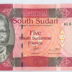 SUDANUL DE SUD - 5 pounds 2015 - UNC - bancnota africa