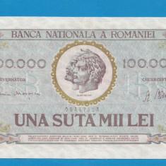 100000 lei 1947 25 Ianuarie 2 - Bancnota romaneasca