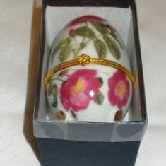 Cutie de bujuterii / Ou gen Faberge - portelan Bavaria - NOU !