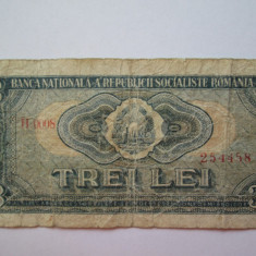 3 lei 1966 bancnota