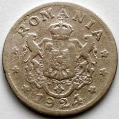Romania Ferdinand I (1914-1927) 1 Leu 1924 Bruxelles, 21mm. - Moneda Romania, Crom