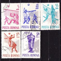 Timbre ROMANIA 1963/*569 = CAMPIONATELE EUROPENE DE VOLEI, Stampilat
