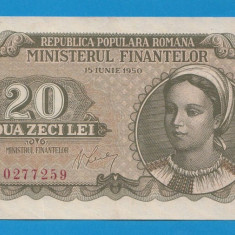 20 lei 1950 6 aUNC - Bancnota romaneasca