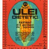 ETICHETA ULEI DIETETIC INTEROIL ORADEA STAS 12/3-76, 1978