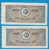 1000000 lei 1947 1 aUNC 2 Consecutive - Bancnota romaneasca