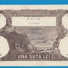 100 lei 1940 aUNC - Bancnota romaneasca