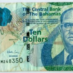 BAHAMAS 10 dolari 2009 - VF - bancnota america