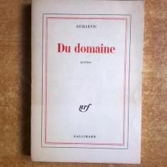 Guillevic - Du domaine {Poeme} - Carte Literatura Franceza