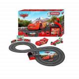 Jucarie Pista Cars cu 2 masini Fulger Mcqueen si Francesco Francesco Bernoulli 63004 Carrera