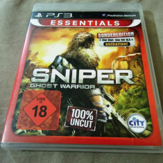 Joc Sniper Ghost Warrior, PS3, original, alte sute de jocuri! - Jocuri PS3 Altele, Shooting, 18+, Single player