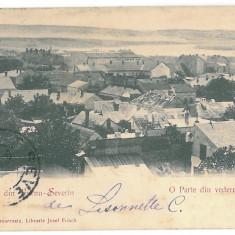 3639 - L i t h o, TURNU-SEVERIN, Panorama - old postcard - used - 1900 - TCV - Carte Postala Oltenia pana la 1904, Circulata, Printata