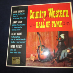 Hank locklin/jimmy dean/patsy cline/webb pierce-country & western hall of fame - Muzica Country Altele, VINIL
