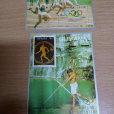 11 Blocuri Guyana Sport MNH 6 Poze - Timbre straine, Nestampilat
