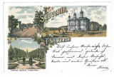 3643 - Litho, TURNU-SEVERIN - old postcard - used, Circulata, Printata