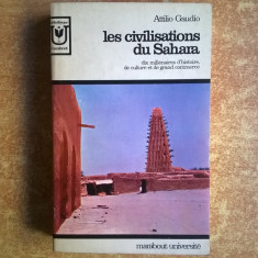 Attilio Gaudio - Les civilisations du Sahara - Carte in franceza