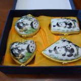 Set Casete Decor 4 Buc Bijuterii Nou Cutie Cadou Decoratiuni Colectie Portelan