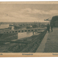 3665 - TURNU-SEVERIN, Harbor, ships - old postcard - unused - Carte Postala Oltenia 1904-1918, Necirculata, Printata