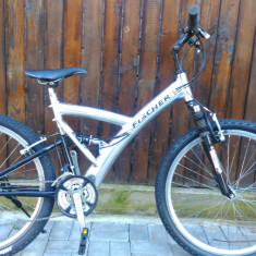 Bicicleta MTB full suspension Fisher import Germania - Mountain Bike, 18 inch, 26 inch, Numar viteze: 21