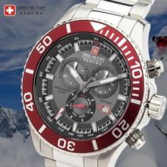 Ceas Swiss Military Hanowa, 46 mm, Model: 06-5226.04.009 Immersion - Ceas barbatesc Swiss Military, Casual, Quartz, Cronograf, 100 m / 10 ATM