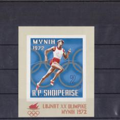 TS - TIMBRE ALBANIA - COLITE - Timbre straine, An: 1972, Sport, Nestampilat