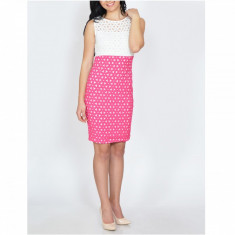 Rochie Dama. Model Mesh - Rochie de zi Raspberry, Marime: 36, 38, 40, 42, 44