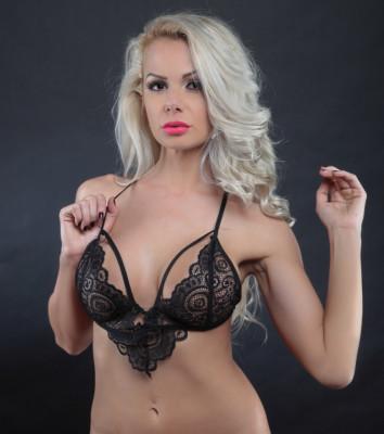 Lenjerie Lady Lust Sexy Black Dantela Print Sutien Bralet Bralette Intim foto