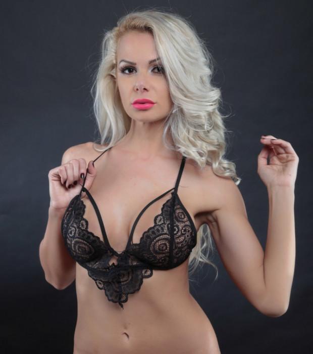 Lenjerie Lady Lust Sexy Black Dantela Print Sutien Bralet Bralette Intim