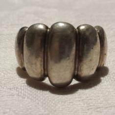 Inel argint cu Bulbi vechi executat manual Vintage de efect Patina minunata