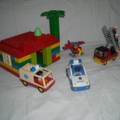Lego Duplo - Casa + pompieri + avion + salvare + politie