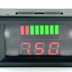 Indicator digital nivel baterie 12V ( afiseaza si voltaj )