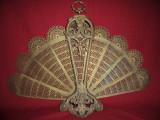 Paravan antiscanteie semineu tip evantaidin bronz  61x80 cm, Ornamentale