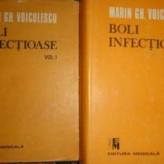 Boli infectioase 2 vol./an 1990/1470pag- Marin Voiculescu - Carte Boli infectioase