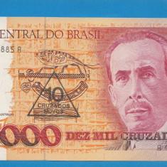 Brazilia 10000 cruzados ND 1989 1990 UNC - bancnota america