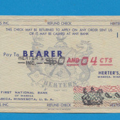 America SUA Bon 4 centimes - bancnota america