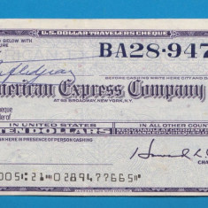 America SUA Bon 10 dollars American Express Company - bancnota america