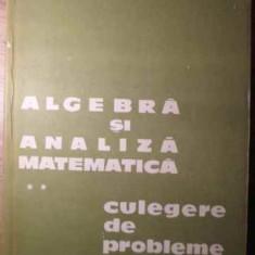 Algebra Si Analiza Matematica Vol.2 Culegere De Probleme - D.flondor N.donciu, 386014 - Carte Matematica