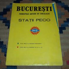 Harta statiile Peco din Bucuresti perioada comunista
