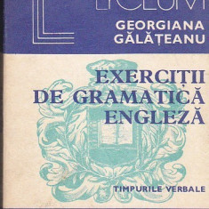 Georgiana Galateanu - Exercitii de gramatica engleza - timpurile verbale