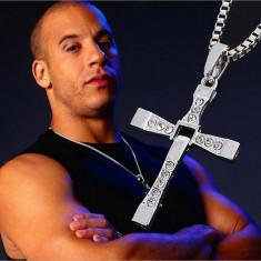 Lant si pandantiv din aliaj zinc cruce Dominic Toretto Vin Diesel pentru barbati - Pandantiv inox