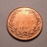 5 bani 1867 Heaton - Moneda Romania