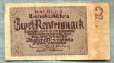 A1813 BANCNOTA-GERMANIA- 2 RENTENMARK-30.1.1937-SERIA02910215-starea ce se vede
