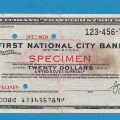 America SUA Bon 20 dollars SPECIMEN - bancnota america