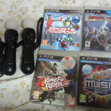 Pachet accesorii ps3, move controler, sony, camera ps3, 4 jocuri move - PlayStation 3