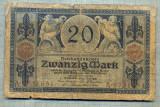 A1812 BANCNOTA-GERMANIA- 20 MARK-4.11.1915-SERIA9731651-starea care se vede