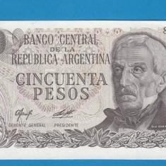Argentina 50 pesos ND 1976 1978 UNC - bancnota america