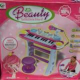 Pian/Orga cu microfon si scaunel - Instrumente muzicale copii