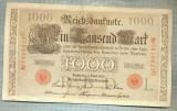 A1747 BANCNOTA-GERMANIA- 1000 MARK 21.4.1910-SERIA1818623 -starea care se vede