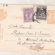 bnk fil Carte postala - intreg postal circulat 1926 - asistenta sociala