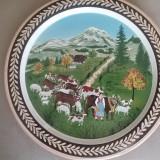 FARFURIE din ceramica PICTATA, semnata, din 1980