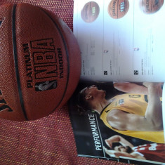 Minge Spalding piele originala NBA Platinum, nr.7 - Minge baschet